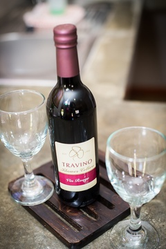 Complimentary wine in the rooms on arrival to welcome our guests.