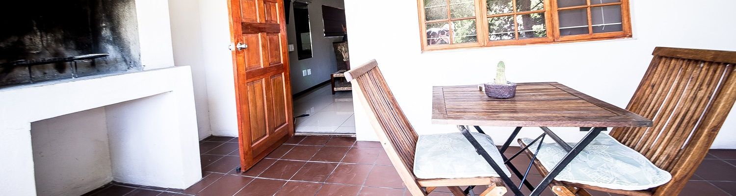 All our rooms and chalets has private build in braais and furnished stoeps.